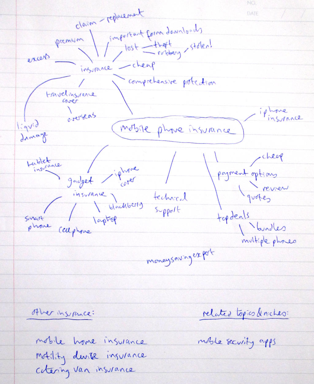 Niche Laboratory Example Mind-map