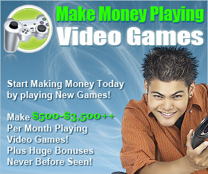 Get paid for playing video games - CLICK HERE
